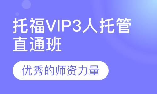 托福VIP3人托管直通班
