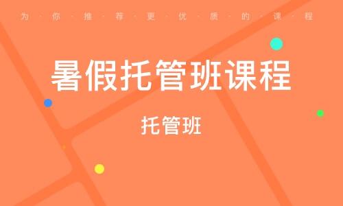 武汉暑假托管班课程