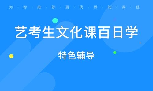 广州艺考生文化课百日学