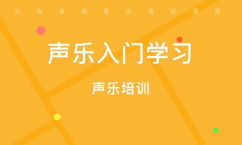 上海声乐入门学习