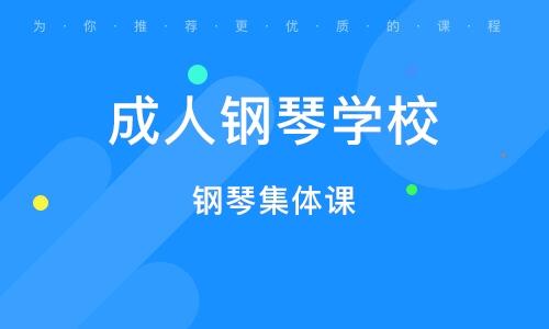 上海成人钢琴学校