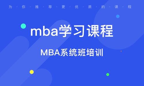 MBA系统班培训