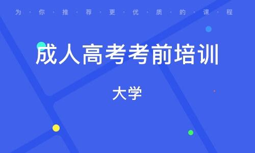 天津成人高考考前培训