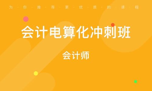 北京会计电算化冲刺班