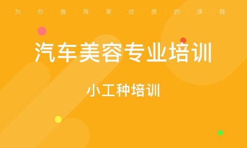 天津汽车美容专业培训