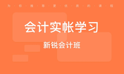 深圳會計實帳學習