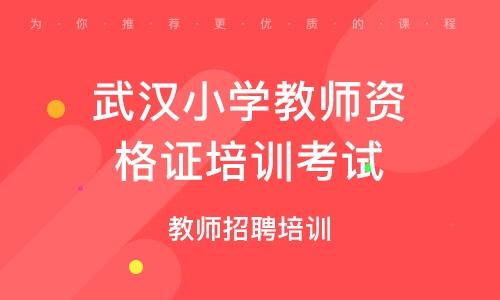 武汉小学教师资格证培训考试