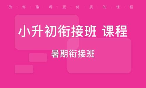 广州小升初衔接班 课程