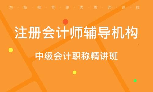 武漢注冊會計師輔導機構