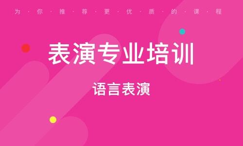 广州表演专业培训机构