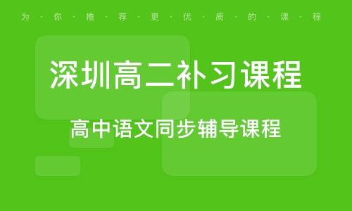 深圳高二补习课程
