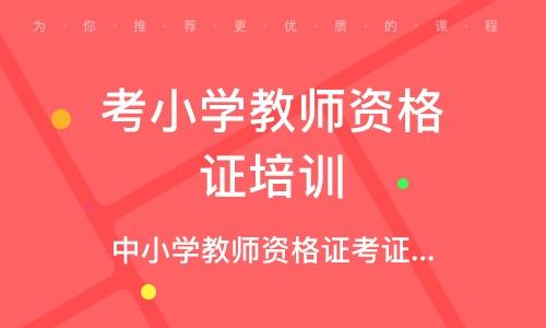 深圳考小学教师资格证培训