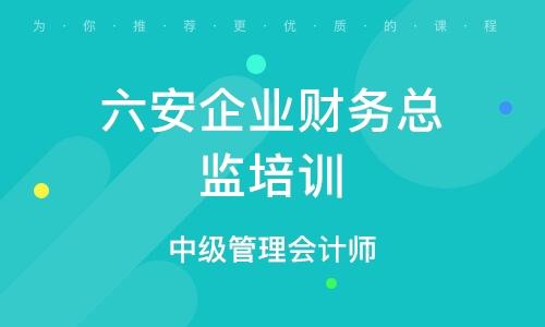 六安企業財務總監培訓