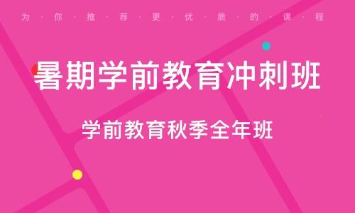 天津暑期学前教育冲刺班