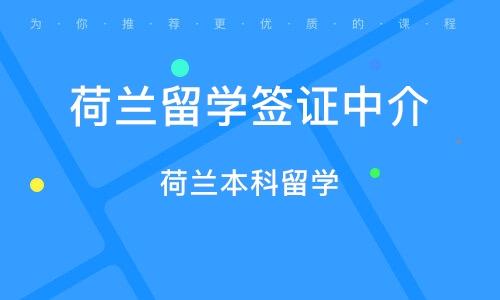 上海荷兰留学签证中介