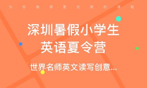 深圳暑假小學生英語夏令營