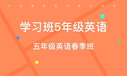 上海學習班5年級英語