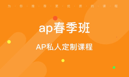 AP私人定制课程
