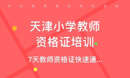 天津小学教师资格证培训