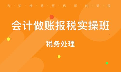 广州管帐做账报税实操班