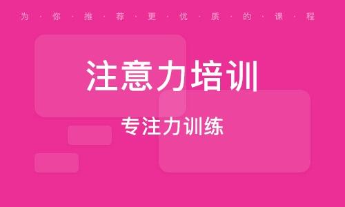 重庆留意力培训班