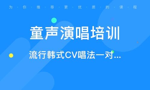 流行韓式CV唱法一對一精品私教課
