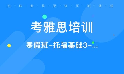 寒假班-托福基础3-5人班