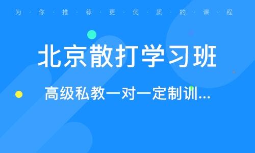 北京散打学习班