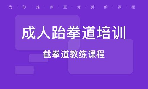 南京成人跆拳道培训班