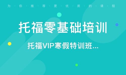 托福VIP寒假特训班(争80/90分)