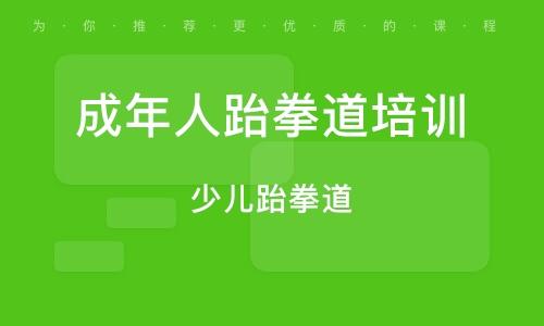 广州成年人跆拳道培训