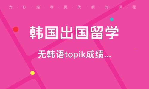 無韓語topik成績申請碩、博入學