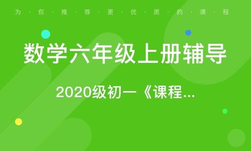 2020级初一《课程标准》培训班