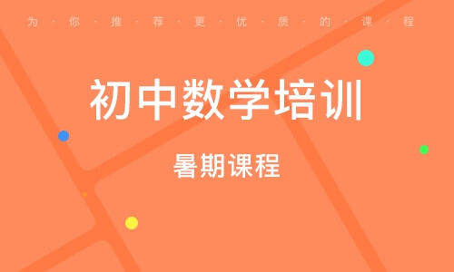 上海初中數學培訓機構