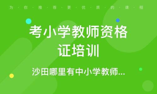 东莞考小学教师资格证培训机构