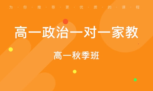 淄博高一政治一對一家教