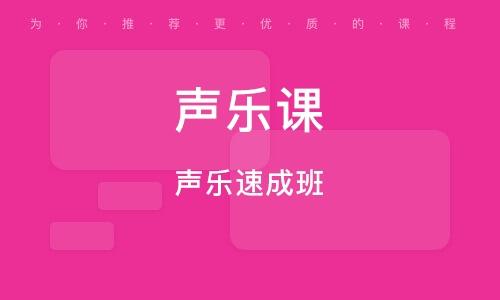 深圳聲樂課