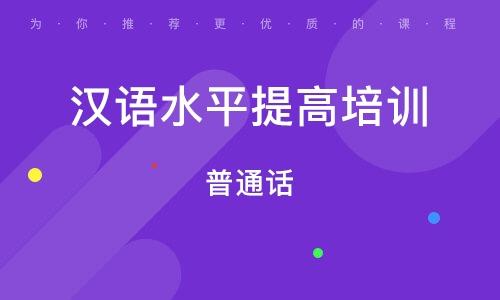 西安漢語水平提高培訓班