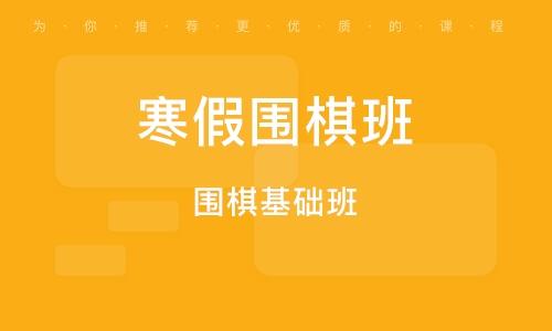 福州寒假圍棋班